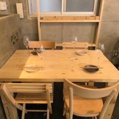 ◆居心地の良いテーブル席★落ち着いた雰囲気でゆったりお食事ができます☆女子会などにオススメ!