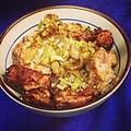 料理メニュー写真鶏唐丼・豚丼・カレーライス・焼そば・うどん・HOTDOG&コロッケ・BLTサンド