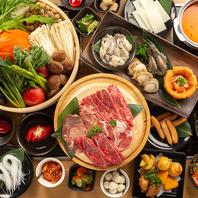 ◆100種類以上のお肉や野菜食べ放題!