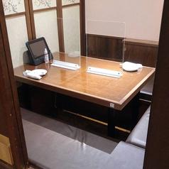 【テーブル個室◇2名様~4名様】少人数様でご利用いただけるテーブル個室になります。落ち着いた雰囲気の個室はデートや接待など、ゆったりとお食事を楽しみたい時に最適の個室です。人気の個室はご予約がおすすめです!※写真はイメージです。