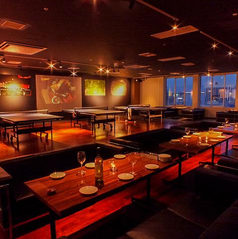 gate'sビル8Fに九州初の卓球バーが登場!料理やドリンクも充実☆深夜3時までOK!