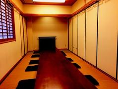 最大36名様までOKの完全個室。人気の為早めのご予約がおすすめ!!