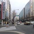 博多駅東3丁目の信号を左折し、直進。