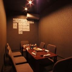 2名から6名までの個室席有り。プライベート宴会、会社宴会などに最適な個室席を4部屋完備。