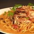 料理メニュー写真渡り蟹のトマトクリームパスタ