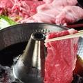 料理メニュー写真姫路名物すき焼き風しゃぶしゃぶ、すきしゃぶ!