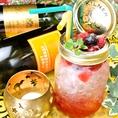 ■TOMBOYオリジナルカクテルはグラスの形も変わったものが多く、目でもお楽しみ頂けます■