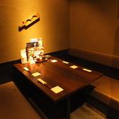 ゆったりおくつろぎいただけるテーブル個室
