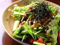 料理メニュー写真納豆好きの粗塩サラダ
