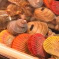 直前まで水槽で泳ぐ新鮮な魚貝が自慢!