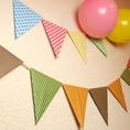 お部屋を飾るフラッグや風船もご用意しております♪