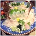 料理メニュー写真長崎産 ヒラメの一本造り