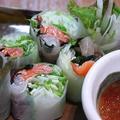 料理メニュー写真海鮮生春巻き