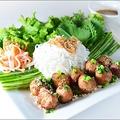 料理メニュー写真Nem Nuon 豚ロースのつくね焼き
