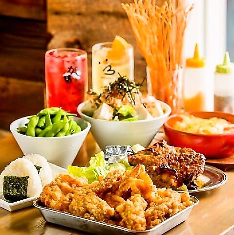 駅前徒歩1分☆熱々の唐揚げとビールで乾杯!!がブリチキン 市川店