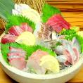 築地直送の鮮魚5点盛り1239円~など本当に美味しい食材を、どなたでも気軽に楽しめるお値段でご提供致します。