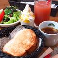 料理メニュー写真おおいたセット(明太トースト+スープ+サラダ+コーヒーまたはソフトドリンク+ミニパフェ)