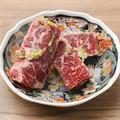 料理メニュー写真厚切りカットハラミ(タレ/塩/みそダレ/ピリ辛ダレ)