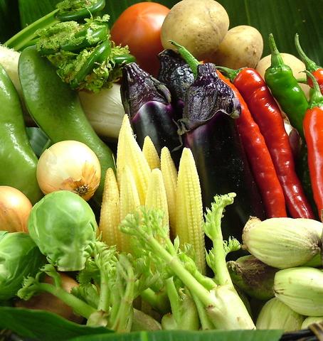 普段あまり見慣れないような野菜もちらほら…野菜の旨さに感動される方が多数!