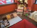 紅茶、ピーチティー、アップルティー、ジャスミンティーなどのティーバッグをご用意しております。バラエティーコーナー(\380)ご注文で使い放題
