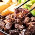 料理メニュー写真牛ハラミのステーキ鉄板焼き