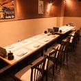 8~16名様用のテーブル席は中規模宴会に最適。お勤め先でのご宴会・気の合う仲間との飲み会に是非ご利用ください。