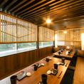 最大25名様での団体個室も完備。多彩な個室席をご用意しております。新横浜でのご宴会に◎