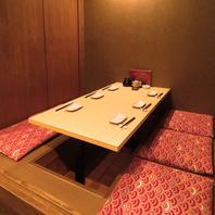 少人数でも安心★半個室やテーブル席、カウンター席あり