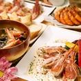 『海老もすっごく好きだけど、それ以外も食べたい!』にお答えするラインナップの数々!【団扇海老】【天使海老】【牡丹海老】【伊勢海老】などそれぞれ美味しさの異なる海老や、【河内町の野菜】【つくばの美桜鳥】【長崎の鮮魚】などアラカルトも美味しい食材を取り揃えております!!