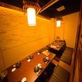 壁と扉によって区切られた宴会個室は大人のプライベート感の漂う上品な空間となっております♪そのため、有楽町での接待や合コンなど外せない宴会に多数ご利用頂いております♪