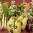 大成閣農園で収穫したお野菜は、お惣菜と共に大丸心斎橋店にて販売することもあります。