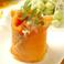 料理メニュー写真サーモンのマッシュカルパッチョ