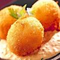 料理メニュー写真名物!蟹クリームコロッケ