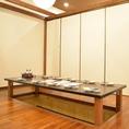 壁仕切りを付ければプライベート空間の個室で宴会ができる!