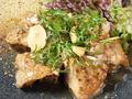 料理メニュー写真若鶏のマスタード焼き ガーリック風味