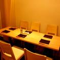 【4名様~6名様】ちょっとした集まりには6名掛けのテーブルもございます♪3~4名様のテーブルとつなげて、最大12名様までご宴会も可能ですので、詳しくはお問合せください。