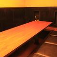 10名様までOK掘り炬燵半個室。ご宴会人数によって、お隣の6名席とも連結可能です。