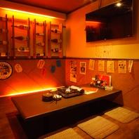 多彩な個室完備