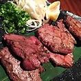 【黒毛和牛A5ランク内ももステーキ】1280円系列店肉バルから取り寄せた厳選黒毛和牛A5ランクの内ももを炭火で炙ってご提供。隠れた人気メニューです!