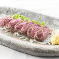 料理メニュー写真馬肉の炙りタタキ