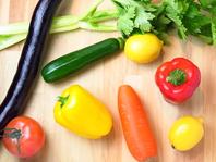新鮮な野菜など食材にもこだわり