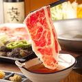 料理メニュー写真国産牛カルビ・ロースのしゃぶしゃぶ食べ放題