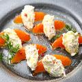 料理メニュー写真旬の柑橘とマスカルポーネのカプレーゼ
