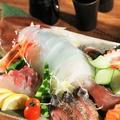 料理メニュー写真イカの活き造り100g