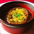 料理メニュー写真こだわりのオニオングラタンスープ
