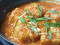 料理メニュー写真チリソースと玉子の揚げ出し豆腐