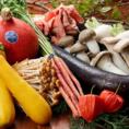 【旬菜を取り揃えております♪】 四季の食材を使ったコース料理が充実しています