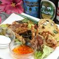 料理メニュー写真カラごと食べるソフトシェルと季節野菜のフリット