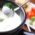 料理メニュー写真熱々チーズフォンデュ