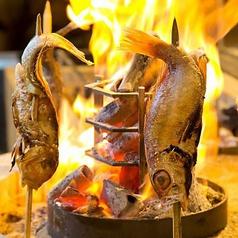 ハタハタの炭火焼き